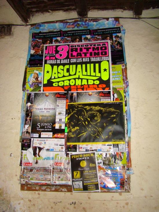 Afiche en Cusco