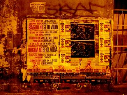 Afiches en Lima