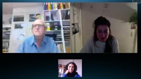 Skype con Petra y Karl
