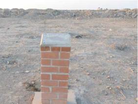 Pedestal de la placa robada.